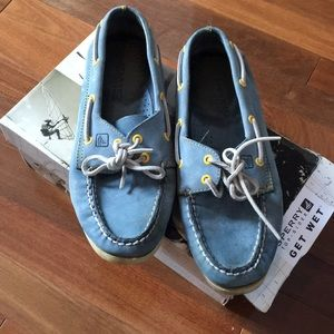 Sky blue sperry topsiders🌟⭐️